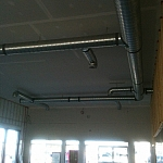 Duct work in main shop
