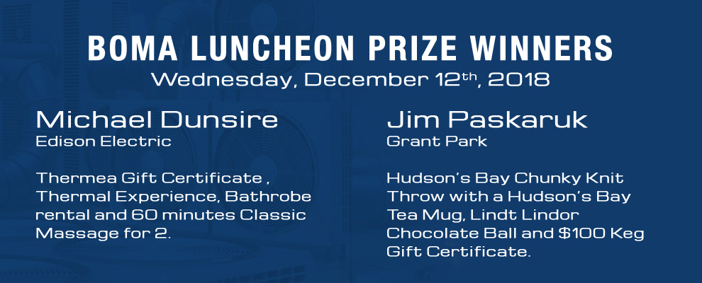 BOMA Luncheon Prize Winners