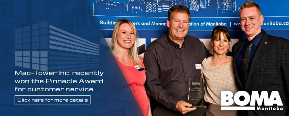 Pinnacle Award for customer service